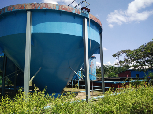 large water tank and equipment
